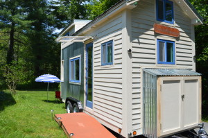 Silver Bullet Tiny House; a sustainable tiny house built North of Boston, MA by Vera.