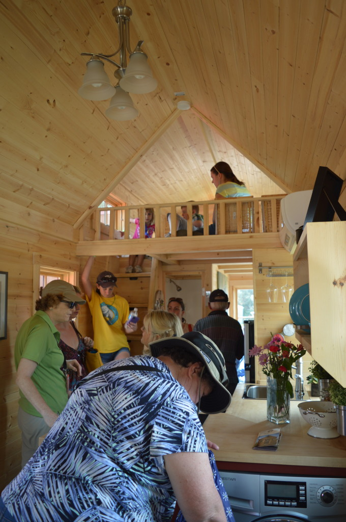 We're all having fun looking at the tiny houses at the Tiny House Jamboree in Colorado Springs, CO