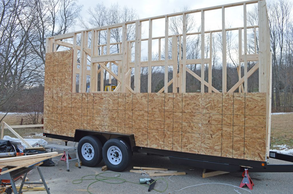Sheathing Tiny Home: Nature's Nest Tiny Home Company